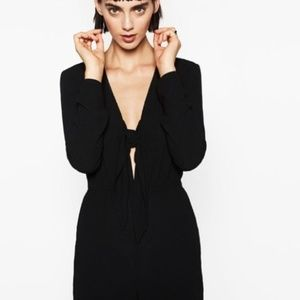 a95434e53902 Zara Other - Zara Black Long Sleeve Jumpsuit Playsuit Tie Front